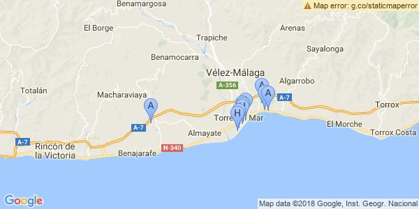Mapa Torre Del Mar.Hoteles De Playa En Torre Del Mar