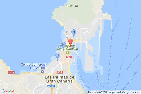 Mapa De Las Palmas De Gran Canaria Calles.Acuario Poema Del Mar